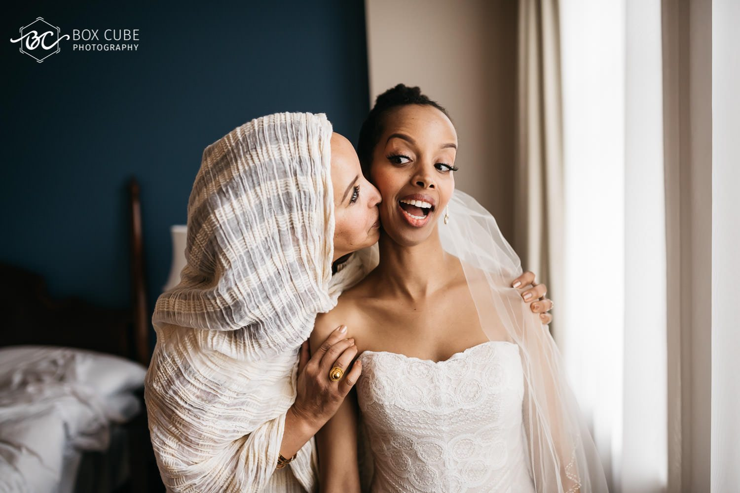 Bride Getting Ready for her wedding at Hotel Fairmont Macdonald
