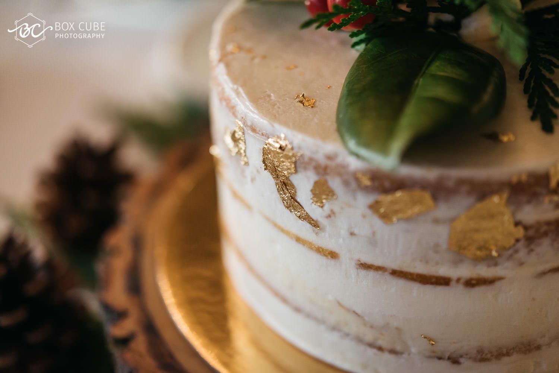 Cake detail shot at the hotel fairmont macdonald