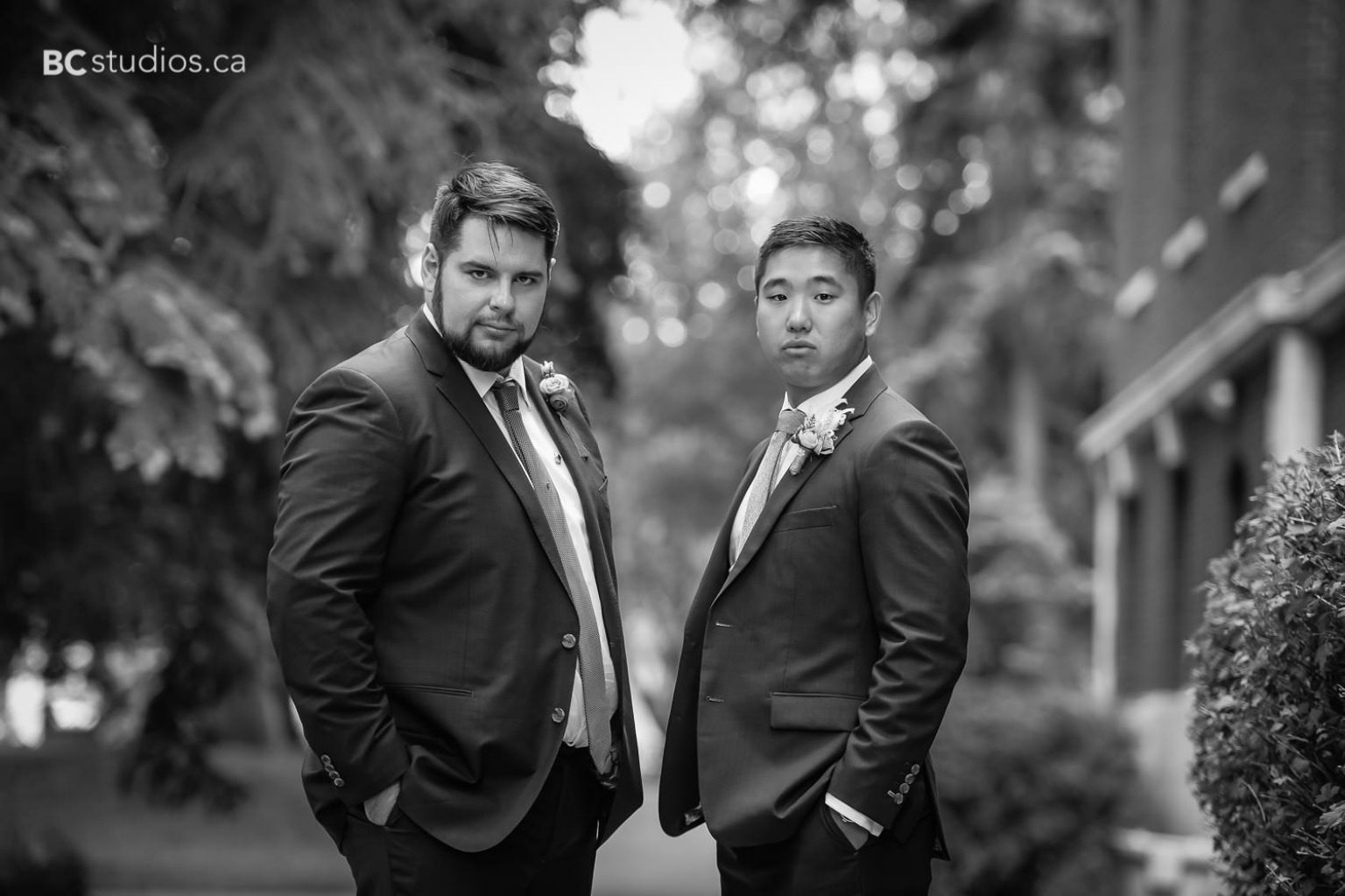 groom and groomsmen. wedding formals at university of alberta.