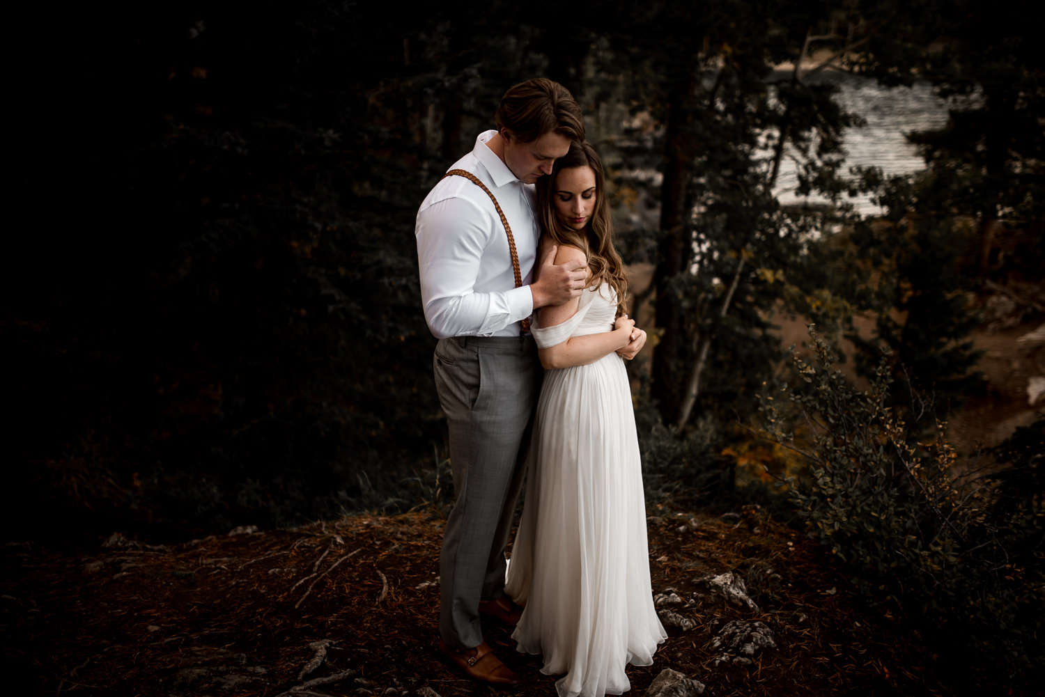 mountain wedding photography - morain lake, banff, canmore