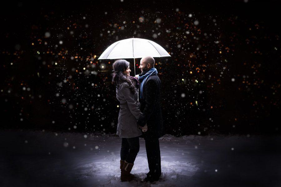 edmonton-wedding-photographers-box-cube-photography-winter-engagement-session-umbrella-snow