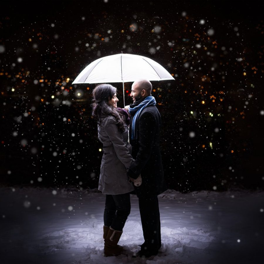 edmonton-wedding-photographers-box-cube-photography-winter-engagement-session-umbrella-snow