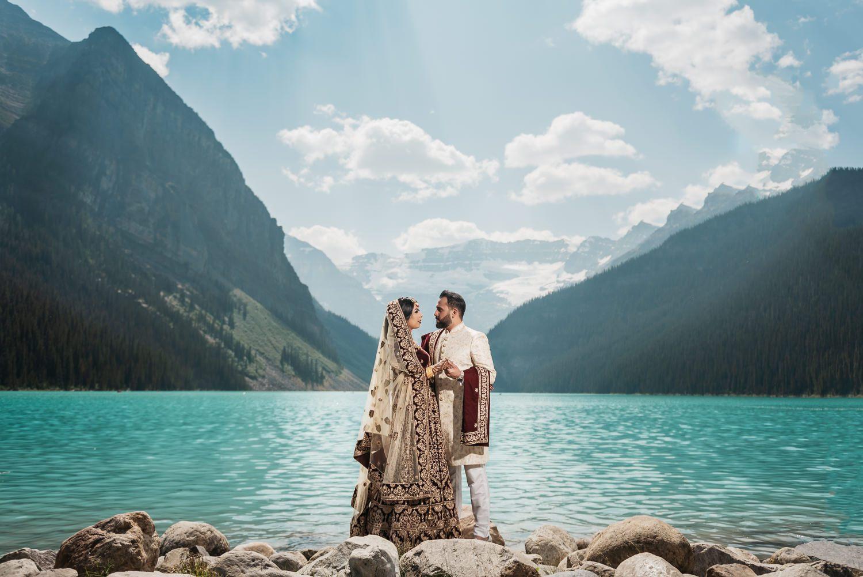 Syed wedding at Lake Louise - Photo by Box Cube Studios - www.boxcubephoto.com