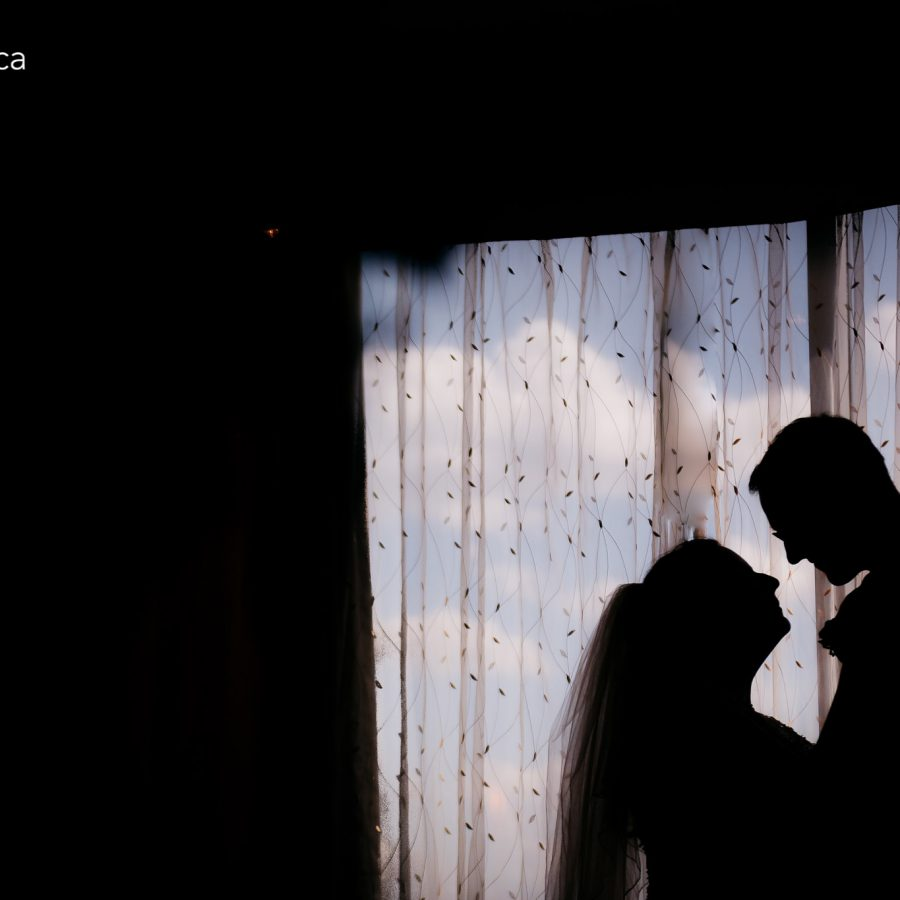 wedding portrait silhoutte