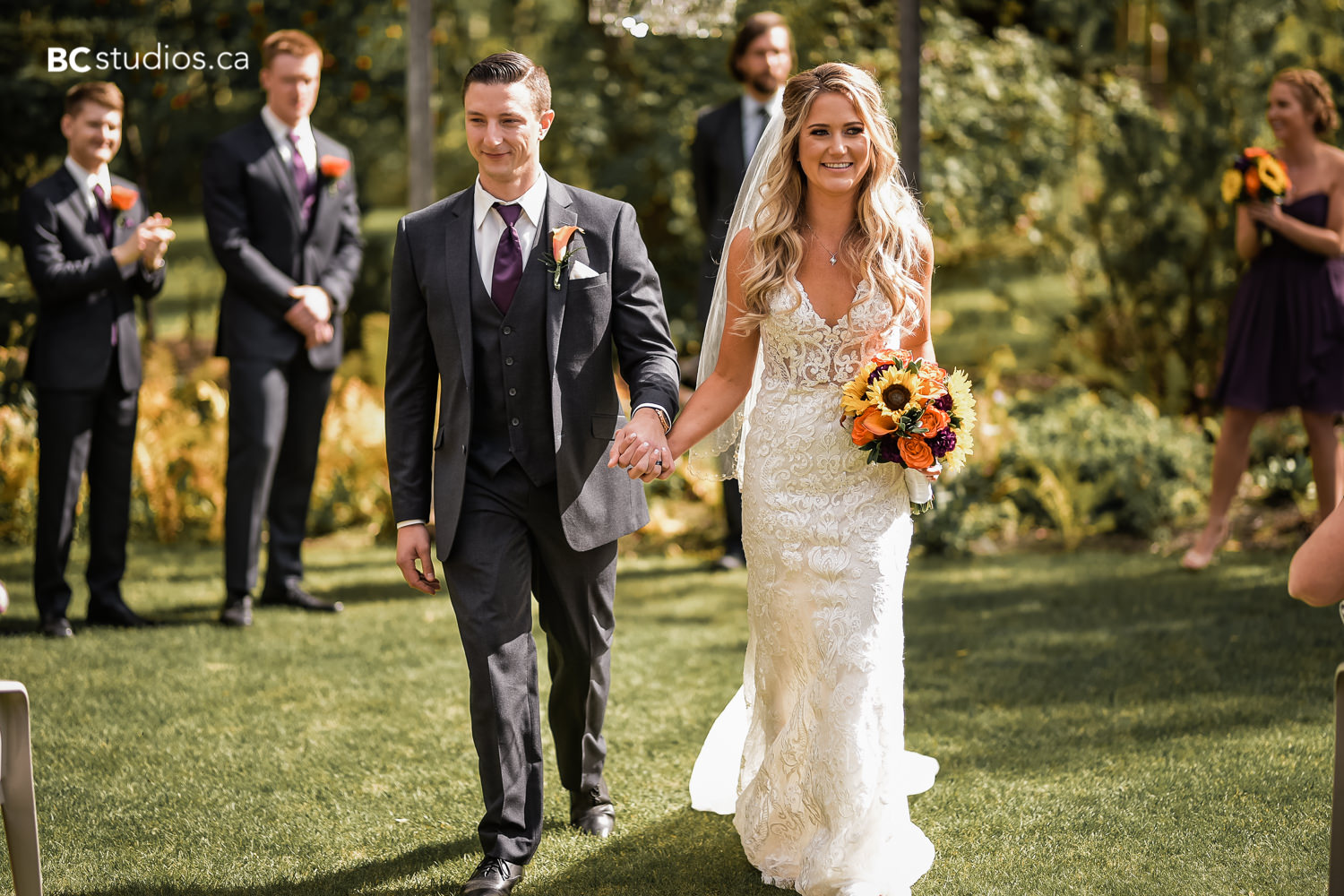 Fall wedding at GrGardens Bed and Breakfast