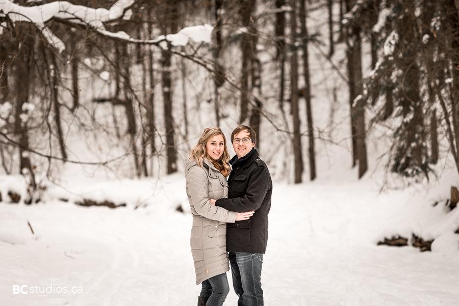 winter engagement session - edmonton engagement photographer - river valley