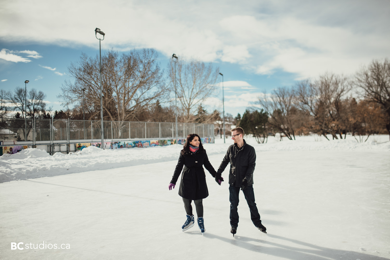engagement session at end fo the world, edmonton
